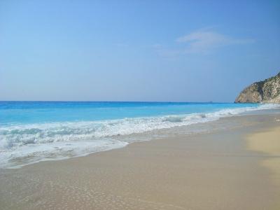 Лефкада, плаж Егремни Бийч