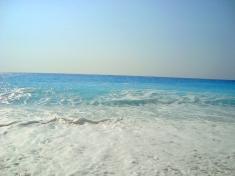 Лефкада, Гърция, морето на плаж Порто Кацики Бийч,