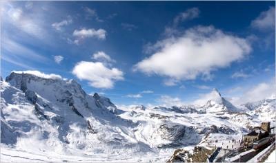 Зермат, Швейцария- нон стоп ски сезон