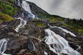 водопадите Лангфос, Норвегия