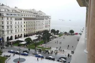 """Централния площад """"Аристотелис"""" Солун"""