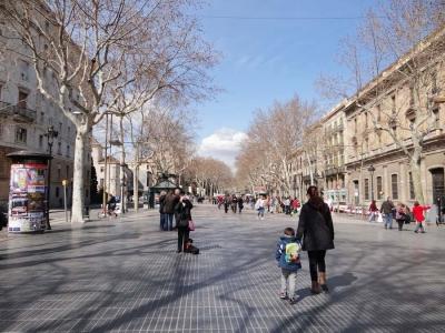 Улица Ла Рамбла ( Las Ramblas)