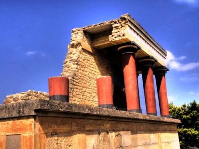 Гърция - двореца в Кносос на остров Крит